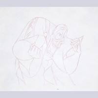 Original Walt Disney Production Drawing from Hercules featuring Hades