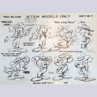 "Original Walt Disney Model Sheet Mickey Mouse ""Hello Joe"""