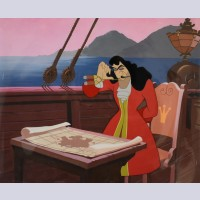 Original Disney Production Cel featuring Captain Hook from Peter Pan