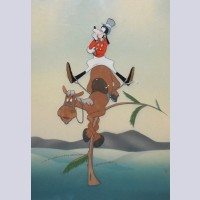 Original Walt Disney Production Cel Featuring Goofy from How to Ride a Horse (1941)