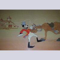 Original Walt Disney Production Cel Featuring Goofy from How to Ride a Horse