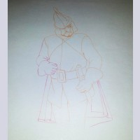 Original Disney Production Drawing Featuring The Huntsman