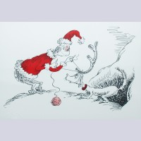 "Original Dr. Seuss Limited Edition Lithograph, ""If I Can't Find A Reindeer, I'll Make One Instead"""