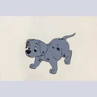 Original Walt Disney Production Cel from 101 Dalmatians featuring puppy (Pepper or Spot)