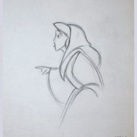 Original Walt Disney Production Drawing from Aladdin Featuring Jasmine