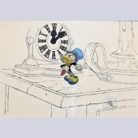 Original Walt Disney Mickey's Christmas Carol Production Cel of Jiminy Cricket
