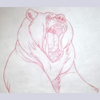 Original Walt Disney Production Drawing from Brother Bear (2003) featuring Koda's mother