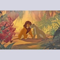 Original Walt Disney The Lion King Limited Edition Cel, First Love