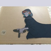 Original Walt Disney Production Cel from The Rescuers featuring Medusa