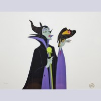 Original Disney Limited Edition Cel featuring Maleficent from Sleeping Beauty