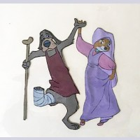 Original Disney Production Cel from Robin Hood featuring Marian