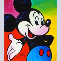 Peter Max Screenprint, Mickey Mouse