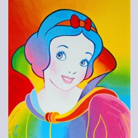 Peter Max Screenprint, Snow White