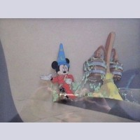 Original Walt Disney Production cel featuring the Mickey Mouse as the Sorcerer's Apprentice