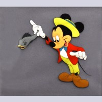 Original Walt Disney Production Cel from The Seal (1948) Featuring Mickey Mouse