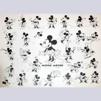 Original Walt Disney Model Sheet featuring Minnie Mouse