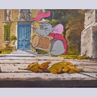 Original Walt Disney Production Cel from The Aristocats featuring Roquefort
