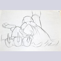 Original Walt Disney Production Drawing from The Lion King featuring Mufasa