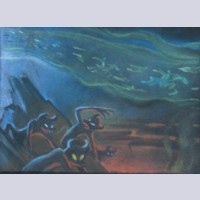 Original Disney Background Concept Drawing from Fantasia