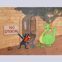 Warner Brothers Limited Edition Cel No Smoking