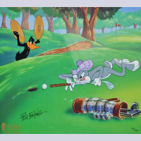 Original Warner Brothers Limited Edition Cel,Par for the Course