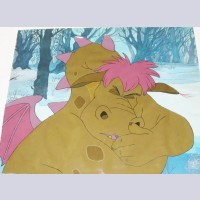 Original Walt Disney Production Cel from Pete's Dragon featuring Elliott