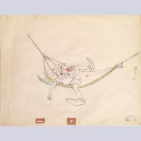 Original Walt Disney Production Drawing from Peter Pan featuring Peter Pan