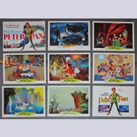 Original Walt Disney 9 Lobby Card set featuring Peter Pan