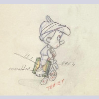 Original Walt Disney Production Cel Featuring Pinocchio