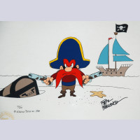Original Warner Brothers Limited Edition Cel, Yosemite Sam: Pirate