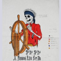 Original Walt Disney Concept Art from the Walt Disney Pirates of the Caribbean Ride