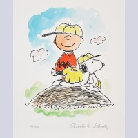 Peanuts Animation Art Limited Edition Lithograph Play Ball