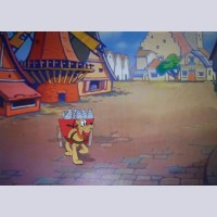 Original Walt Disney Production Cel from In Dutch (1946) featuring Pluto