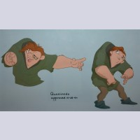 Original Walt Disney CAPS color model markups from The Hunchback of Notre Dame featuring Quasimodo
