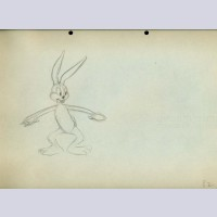 Original Production Drawing Featuring Bugs Bunny
