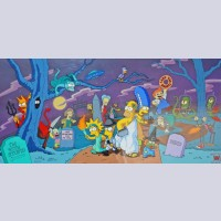 """Simpson Limited edition Pan Cel """"Treehouse of Horrors"""""""