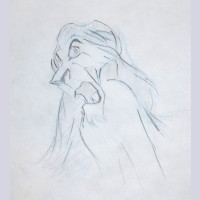 Original Walt Disney Production Drawing from The Lion King