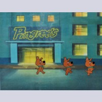 Original Hanna Barbera Three Cel Set-Up featuring Scrappy Doo