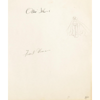 Original Walt Disney Production Drawing Featuring The Queen signed by Ollie Johnston and Frank Thomas