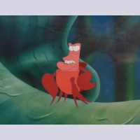 Original Walt Disney Production Cel of Sebastian from The Little Mermaid