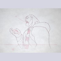 Original Walt Disney Production Drawing from Mulan (1998) featuring Shan Yu
