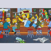 Original Simpsons Sericel Happy Hour