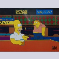 Original Simpsons Production Cel from the Simpsons