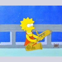 Original Simpsons Production Cel from the Simpsons featuring Lisa
