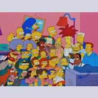 Original Simpsons Limited Edition Cel, Cast'N Couch