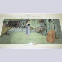 Original Disney Sleeping Beauty Production Cel on Pan Production background