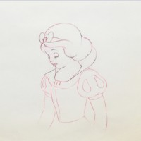 Original Walt Disney Production Drawing Featuring Snow White