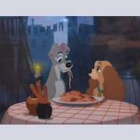 Original Walt Disney Studio Replica Limited Edition Cel of Lady and the Tramp