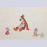 "Original Walt Disney Production Cel from ""The Many Adventures of Winnie the Pooh"""