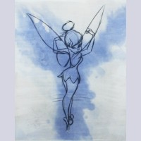 "Original Walt Disney Limited Edition Aquatint ""Tinker Bell Aquatint"""
